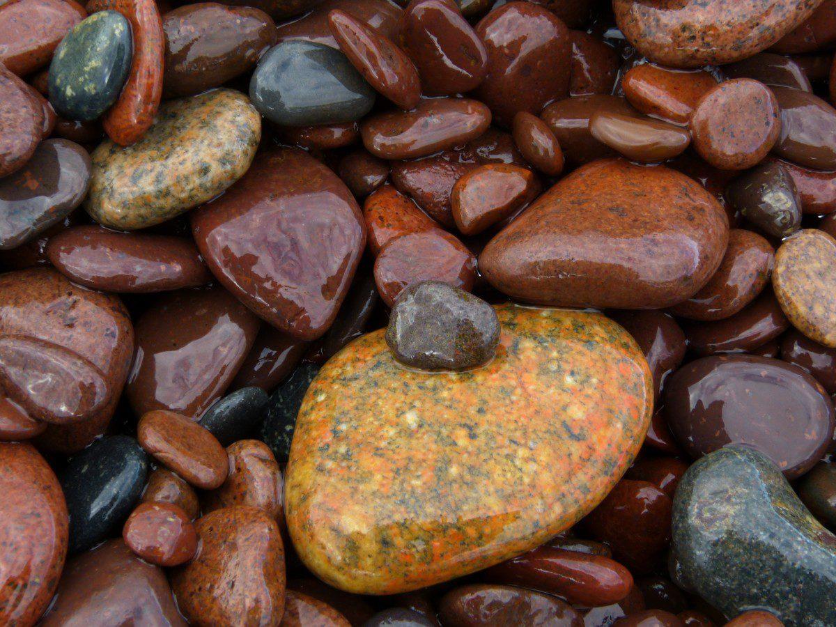 Shoreline rocks  -  Keweenaw County, Michigan