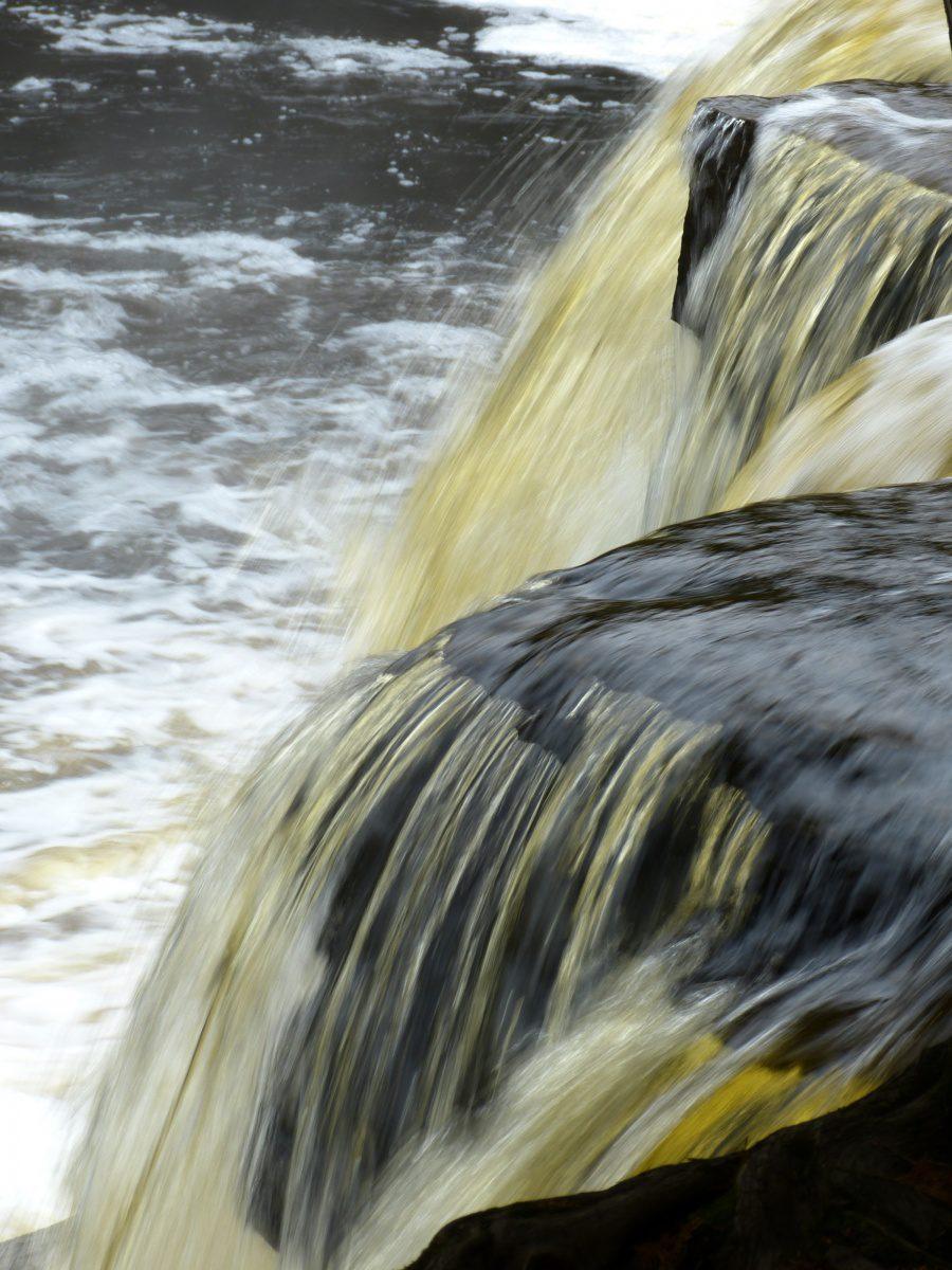 Manabezho Falls  -  Presque Isle River Scenic Area  -  Porcupine Mountains Wilderness State Park, Michigan