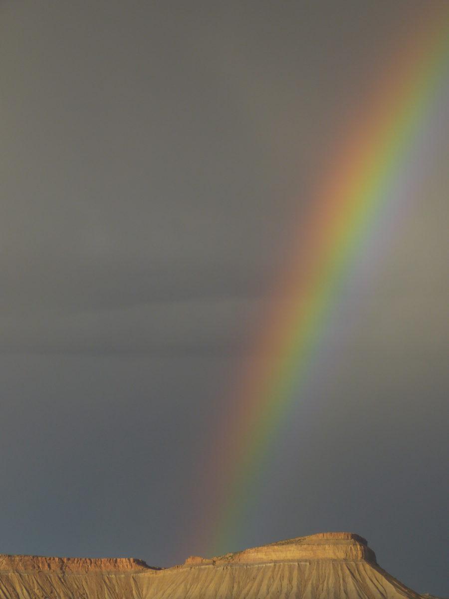 Rainbow over Book Cliffs  -  Grand Junction, Colorado