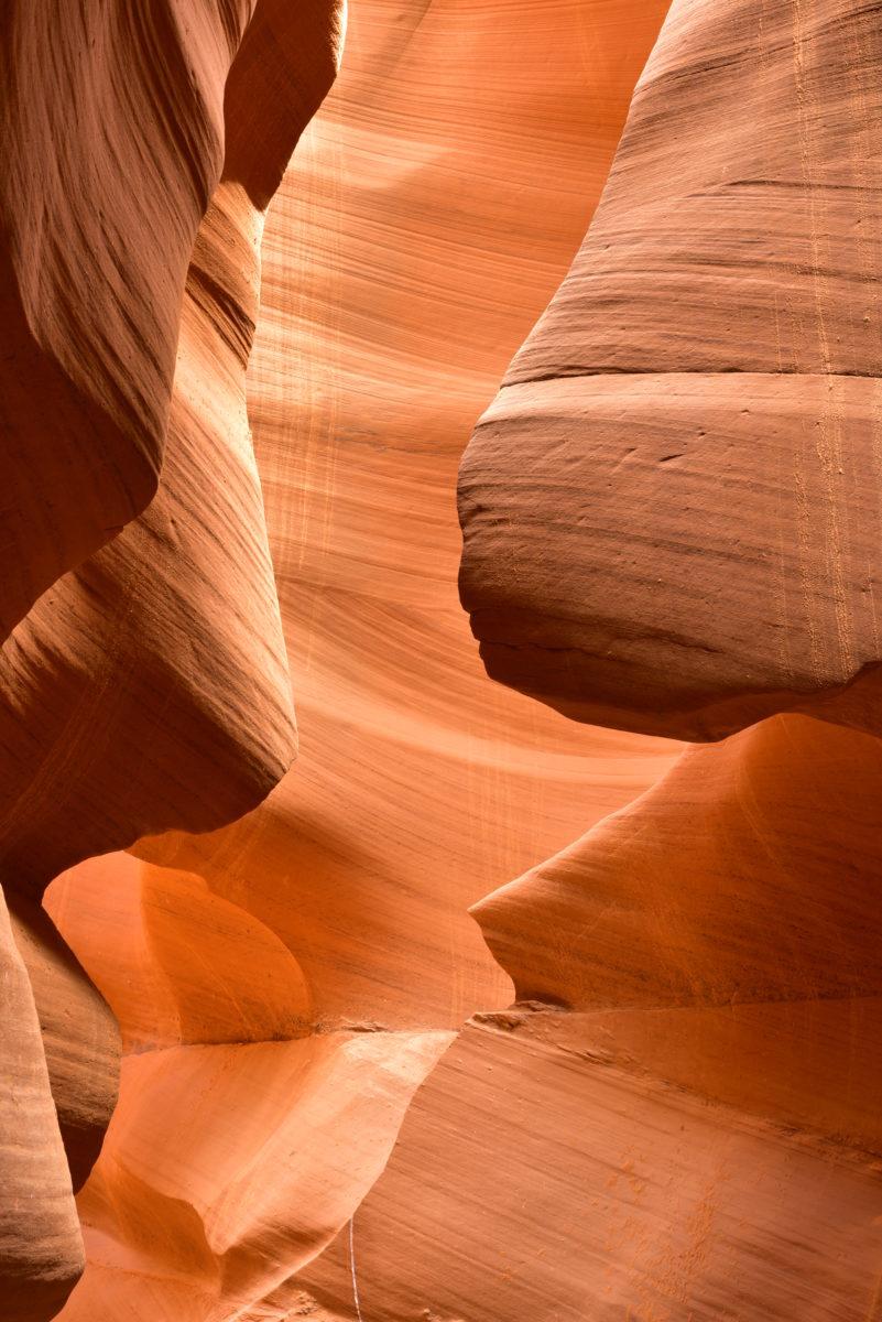 Sandstone walls  -  Lower Antelope Canyon  -  Lake Powell Navajo Tribal Park, Arizona