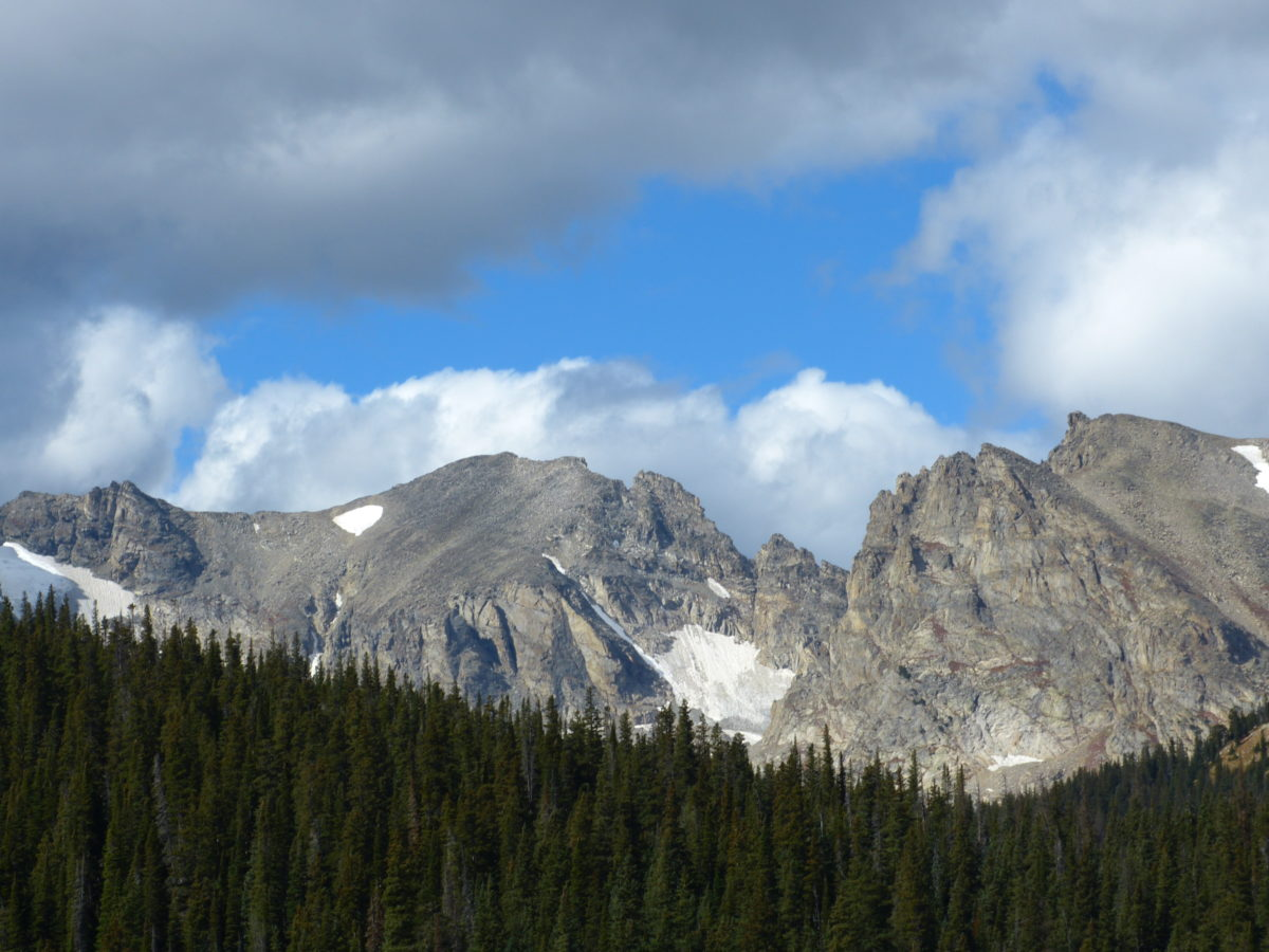 View from Brainard Lake  -  Brainard Lake Recreation Area  -  Roosevelt National Forest, Colorado