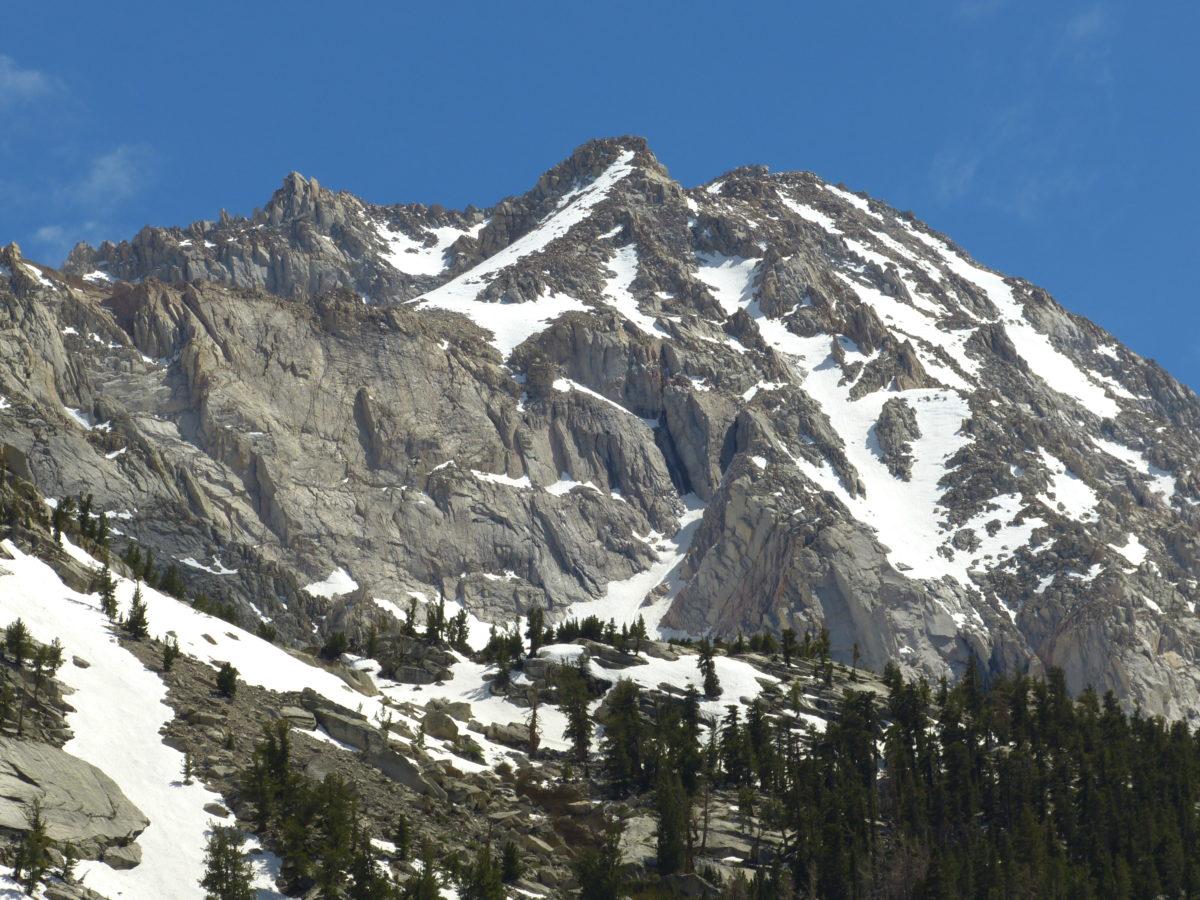 Snow on Eastern Sierra Nevada peak  -  Mt. Whitney Trail  -   Inyo National Forest, California