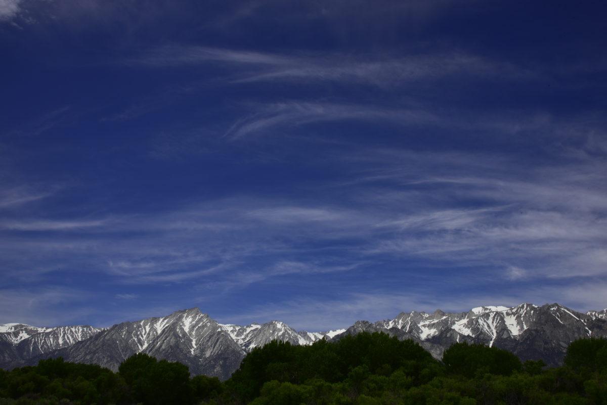 Clouds over the Eastern Sierra Nevada  -  Movie Road  -   Alabama Hills Recreation Area, California