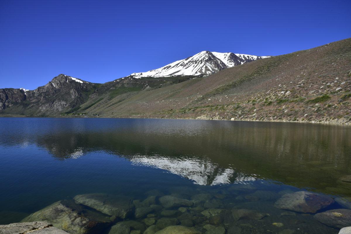 Reflection in Grant Lake  -  June Lake Loop Road  -  Inyo National Forest, California