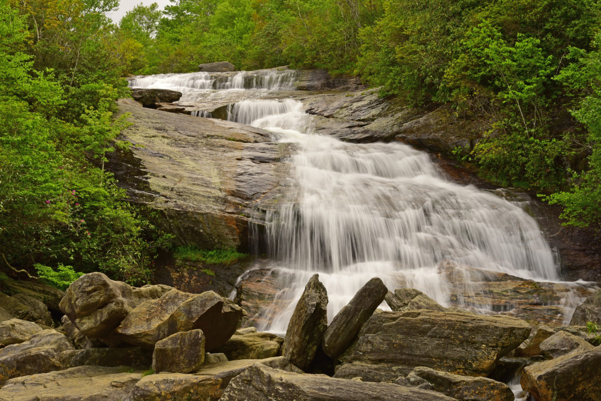 Lower Falls  -  Graveyard Fields  -  Pisgah National Forest, North Carolina