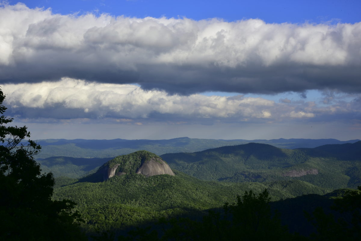 Looking Glass Rock  -  Log Hollow Overlook  -  Blue Ridge Parkway, North Carolina