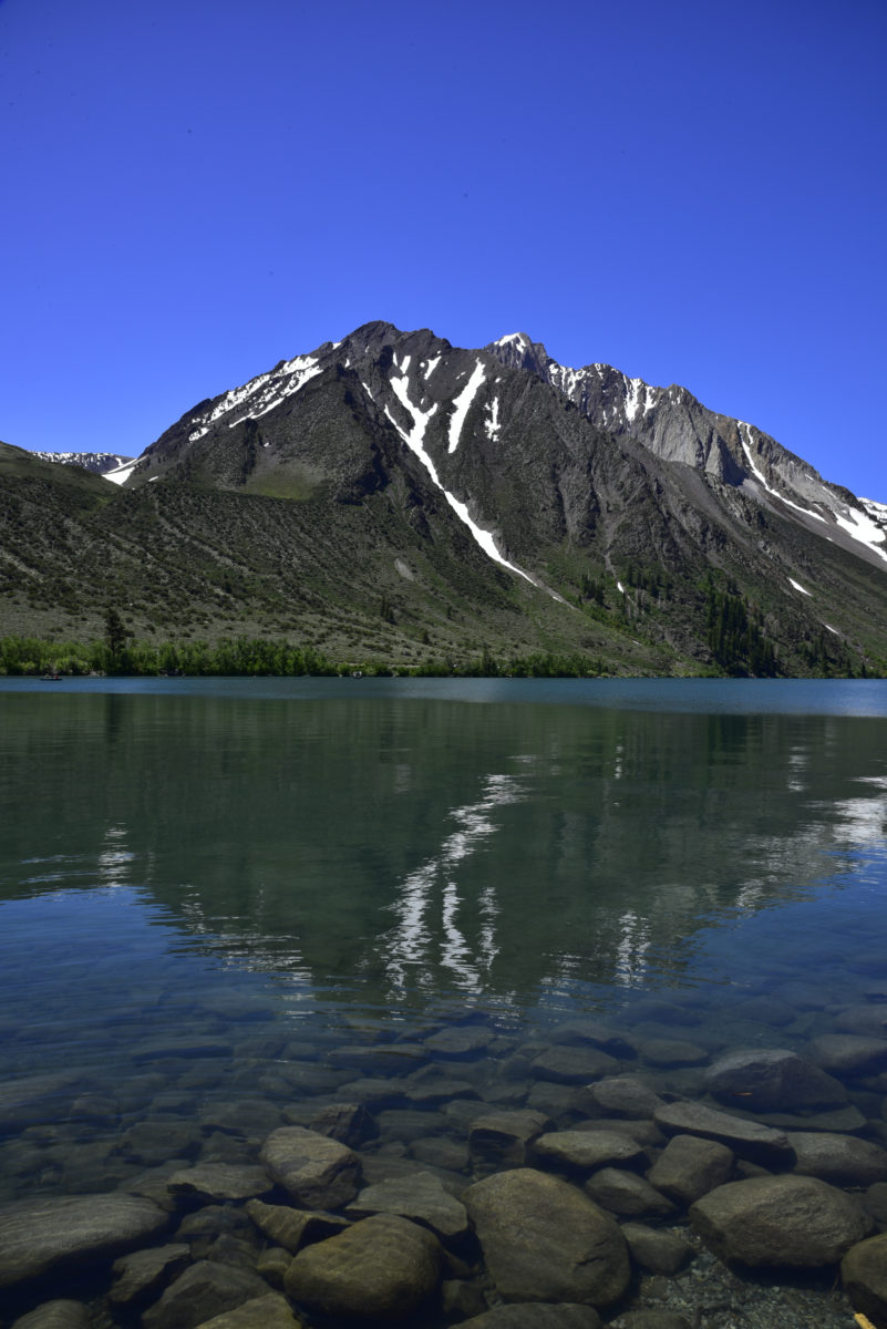 Reflection in Convict Lake  -  Inyo National Forest, California