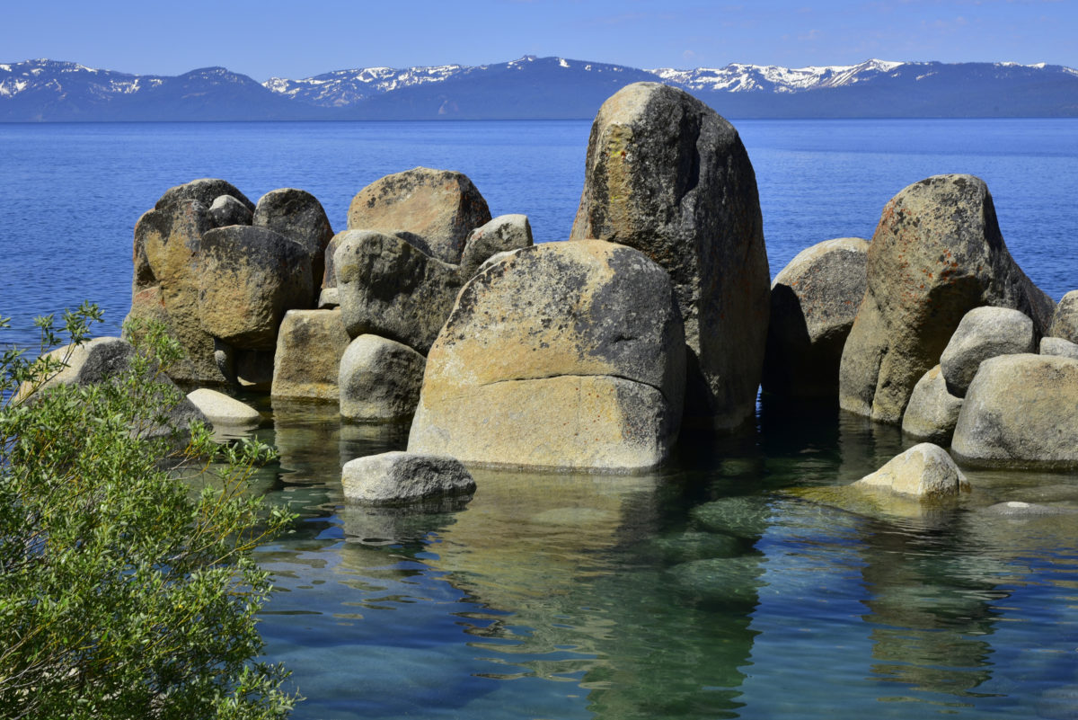 Rocks and Lake Tahoe  -  Sand Harbor State Park, Nevada