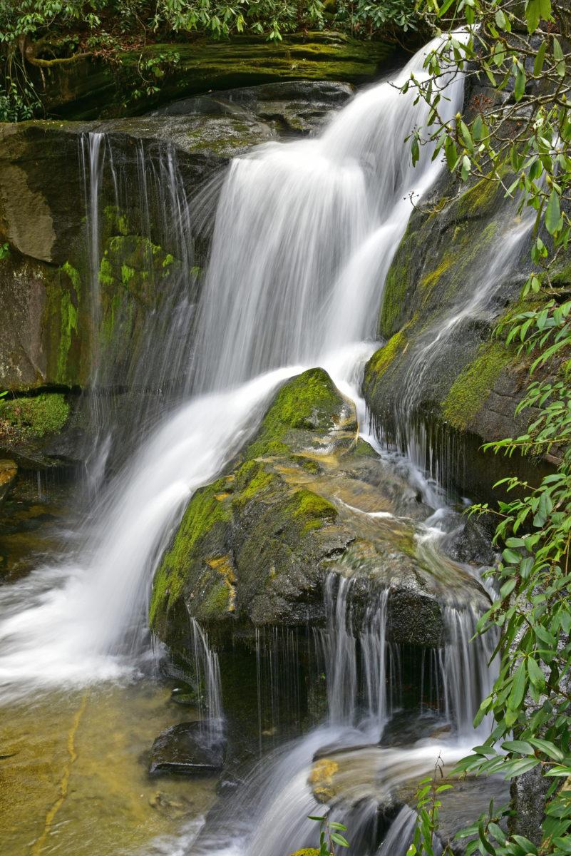 Waterfall on Cedar Rock Creek  -  Pisgah National Forest, North Carolina