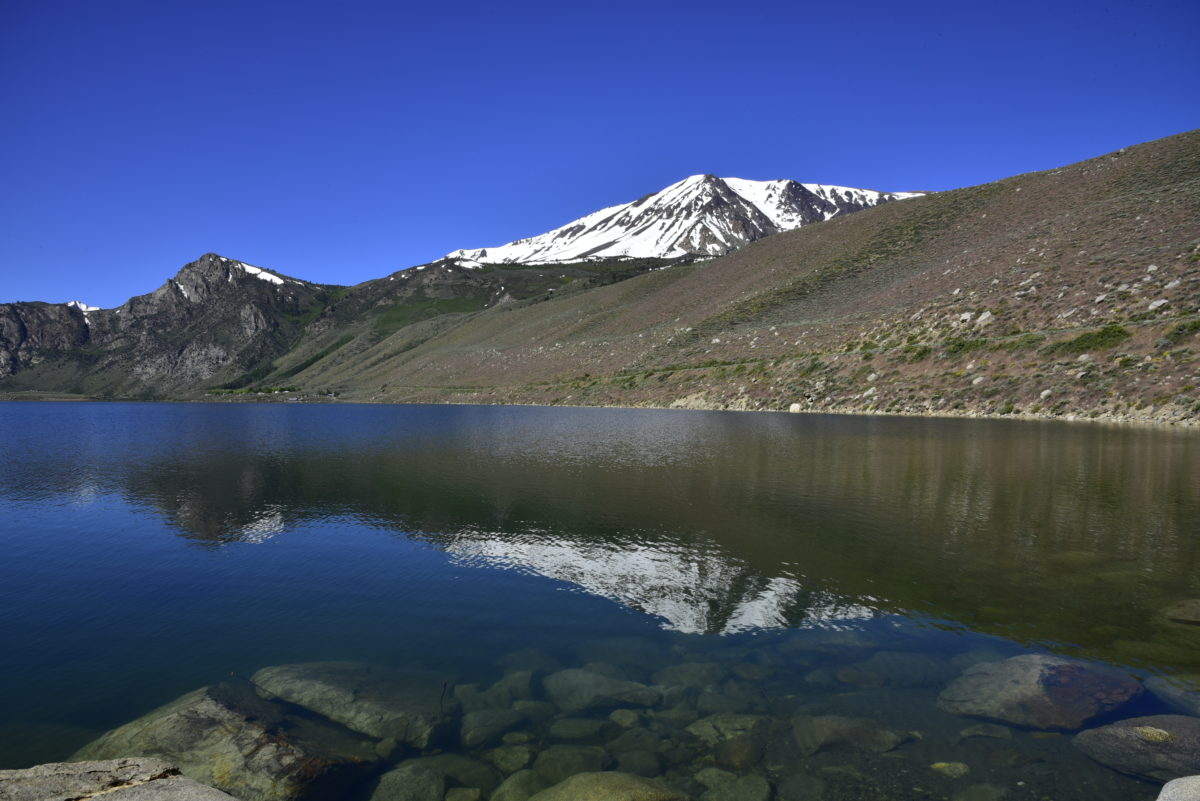 Reflection in Grant Lake  -  Inyo National Forest, California